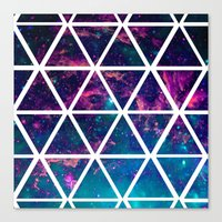 GALAXY TRIANGLES Canvas Print