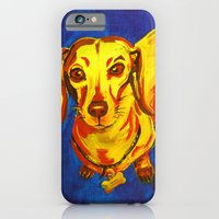 iPhone & iPod Case featuring Get Yer Hot Dogs Here! by Charlotte Curtis