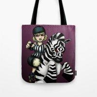 Roller Derby Referee Zebra Tote Bag