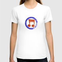 Music Mod Womens Fitted Tee White SMALL