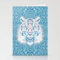 Pastel Quartz Tiger Stationery Cards