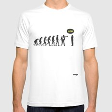 WTF? Evolution! Mens Fitted Tee SMALL White