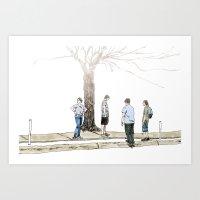 Tree Plus People Art Print