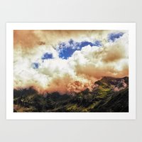 Morning on Fire Art Print