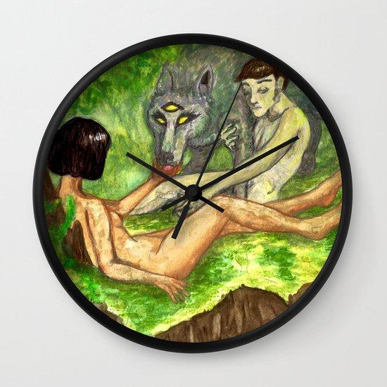 """The Haunted Man"" by Virginia McCarthy & Cap Blackard Wall Clock"