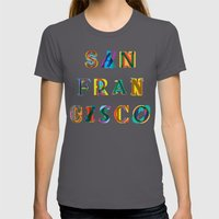 San Francisco Womens Fitted Tee Asphalt SMALL