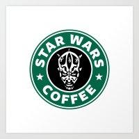 Star Wars Coffee (Darth Maul) Art Print