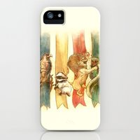 iPhone 5s & iPhone 5 Cases featuring House Brawl by Alice X. Zhang