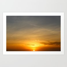 Clear Skies Make a Beautiful Sun Rise! Art Print