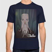 Cthulhu Mens Fitted Tee Navy SMALL