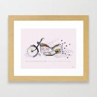 moto flower Framed Art Print