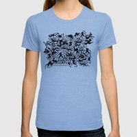 Creative Pet Project 001 Womens Fitted Tee Athletic Blue SMALL