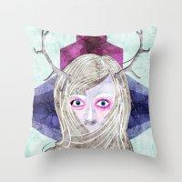 Hair Mask Throw Pillow