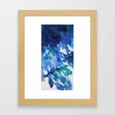 Morning Blossoms 2 - Blue Variation Framed Art Print