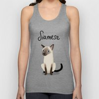 Siamese Cat Unisex Tank Top