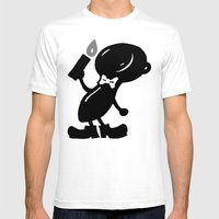 Piecy Mens Fitted Tee White SMALL