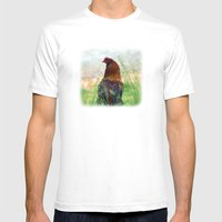 The Hen - Glance Back 73… Mens Fitted Tee White SMALL