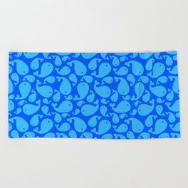 Beach Towel - Blue whale pattern - My Gig