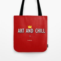 ART AND CHILL Tote Bag