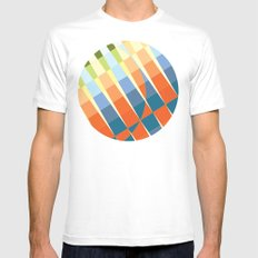 Art Deco White SMALL Mens Fitted Tee