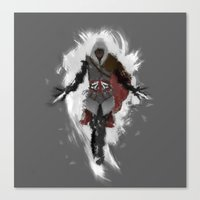 Assasins Grey Canvas Print