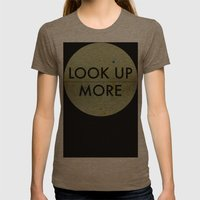 Look Up More Womens Fitted Tee Tri-Coffee SMALL