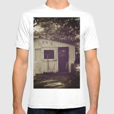 Cottage SMALL White Mens Fitted Tee