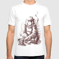 Help the homeless SMALL Mens Fitted Tee White