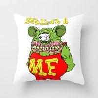 Meat Fink Throw Pillow
