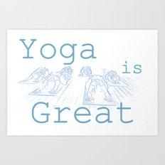 Yoga Is Great : Blues Take Two Art Print