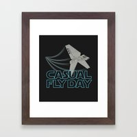 Casual Fly Day Framed Art Print