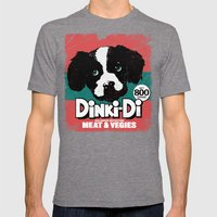 DINKI-DI DOG FOOD Mens Fitted Tee Tri-Grey SMALL