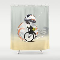 CAT INSIDE DROID Shower Curtain