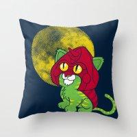 Battle Kitty  Throw Pillow