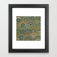Mandala Mania-Mineral colors Framed Art Print