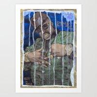 DEAD RAPPERS SERIES - Pi… Art Print
