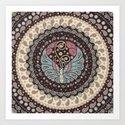 Butterfly Mandala Art Print