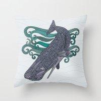 Deep Violet Throw Pillow