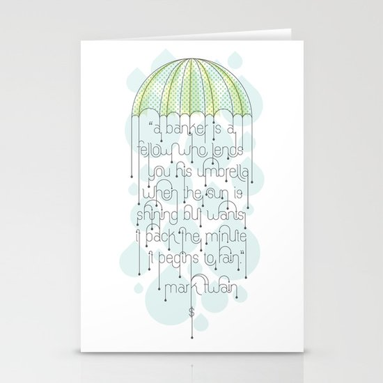 Umbrella Stationery Card