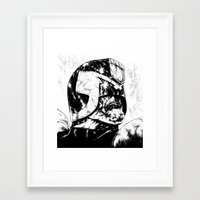 Framed Art Print featuring Dredd - Clean by Suarez Art