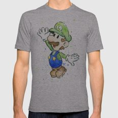 Luigi Mens Fitted Tee Athletic Grey SMALL