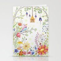 garden and bird Stationery Cards
