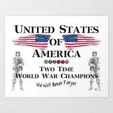 World War Champions Art Print