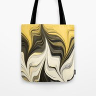 Side By Side Abstract Go… Tote Bag