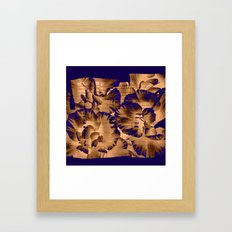 flowers through a pane Framed Art Print
