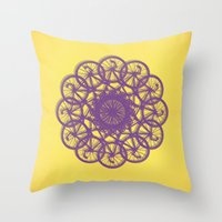 Cycle Circle Throw Pillow