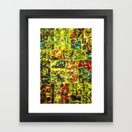Abstract In Yellow  Framed Art Print