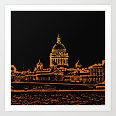 Saint Petersburg. Night Art Print