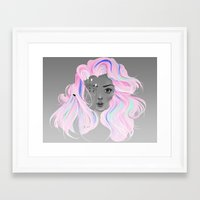 Neon Illusion Framed Art Print