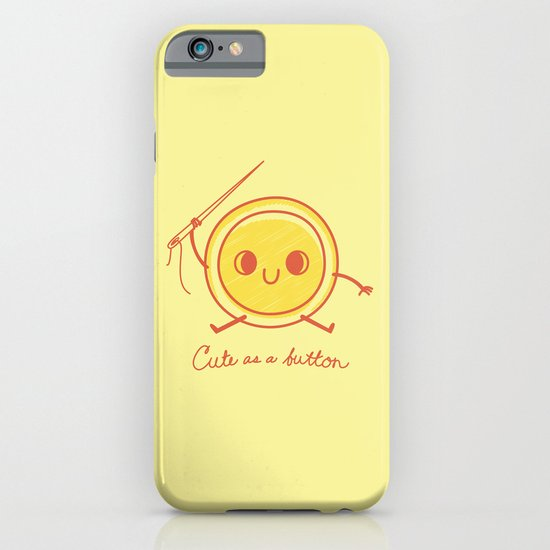 Cute as a button! iPhone & iPod Case